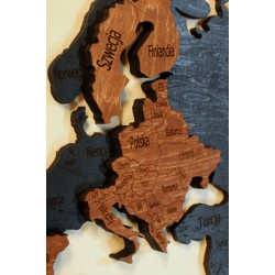 Wooden World Map 10mm +...