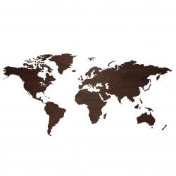 10mm dicke Holzkarte der Welt