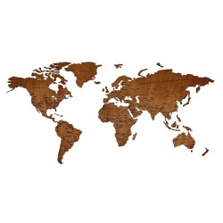 10mm Wooden World Map with...